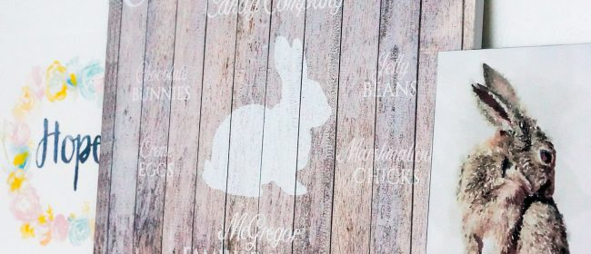 Remodelaholic | Personalized Easter Bunny Printable Set for Easy Spring Decorating