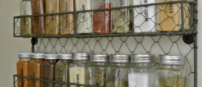 Remodelaholic | Printable Spice Labels for a Modern Farmhouse Style Spice Rack & Pantry