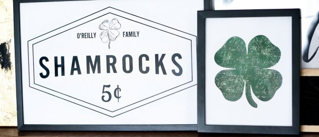 Remodelaholic | Customizable Shamrock Printable Set for a Simple St. Patrick's Day Mantel