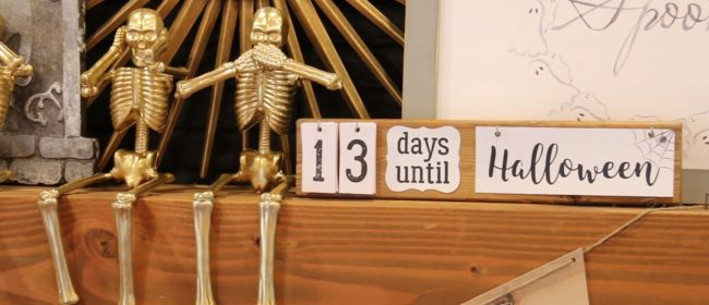 Remodelaholic | 25 Halloween Decoration Ideas for a Cute Halloween Mantel