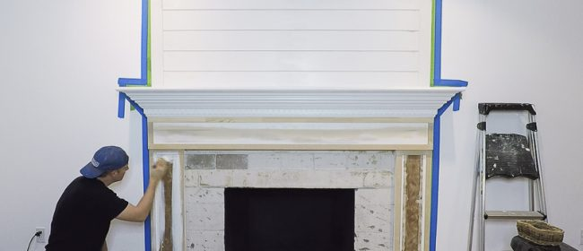 Remodelaholic | DIY Fireplace Makeover Part Two: Kilz Priming and Painting