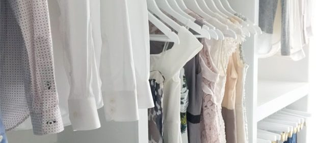 Remodelaholic | DIY Custom Walk-in Closet Organizer for a Builder Basic Closet