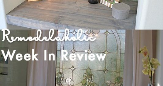 Remodelaholic | DIY Tile Shower & Tub Update in A Weekend + Spring Decor