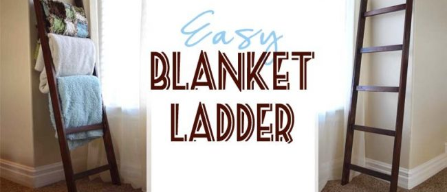 Remodelaholic | How to Build an Easy $5 DIY Blanket Ladder