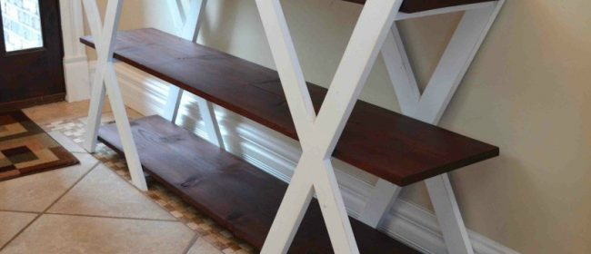 Remodelaholic | DIY Double X Farmhouse Console Table Plans
