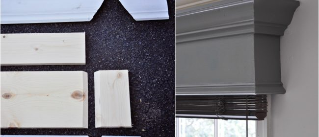 Remodelaholic | How to Build and Hang a Window Cornice