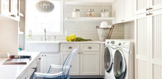 Remodelaholic | 20+ Large Multi-Purpose Laundry Rooms
